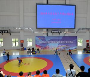 我院成功承办江苏省青少年摔跤锦标赛
